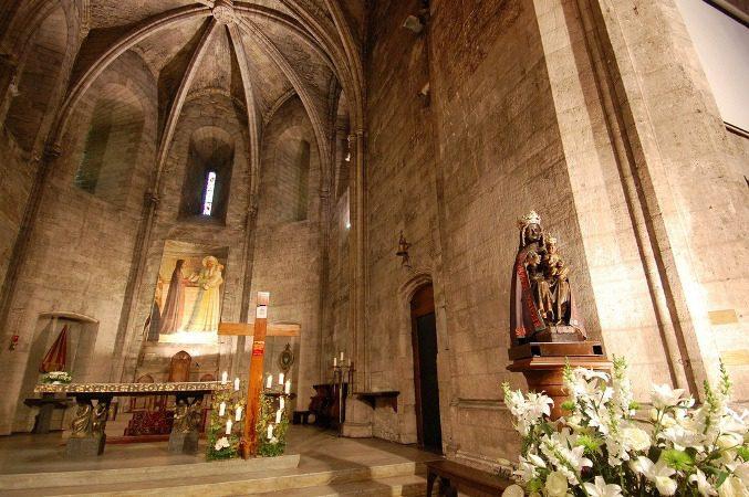 Интерьер церкви аббатства Сен-Виктор