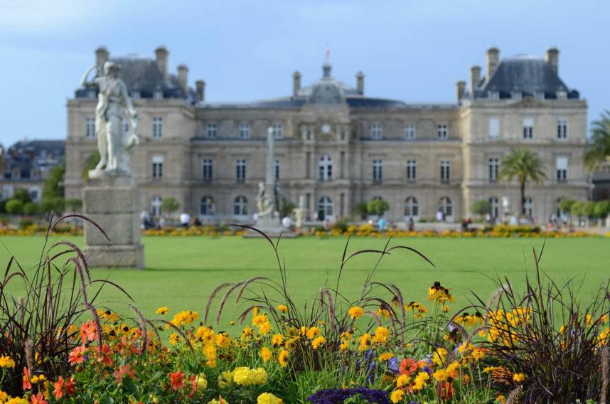 Люксембургский дворец, сторона сада