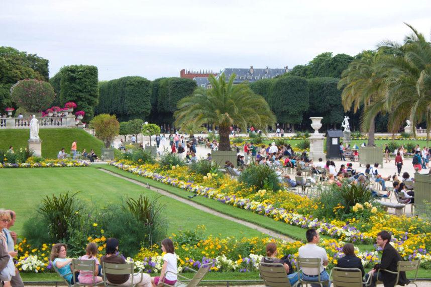 Люксембургский сад, зона отдыха туристов