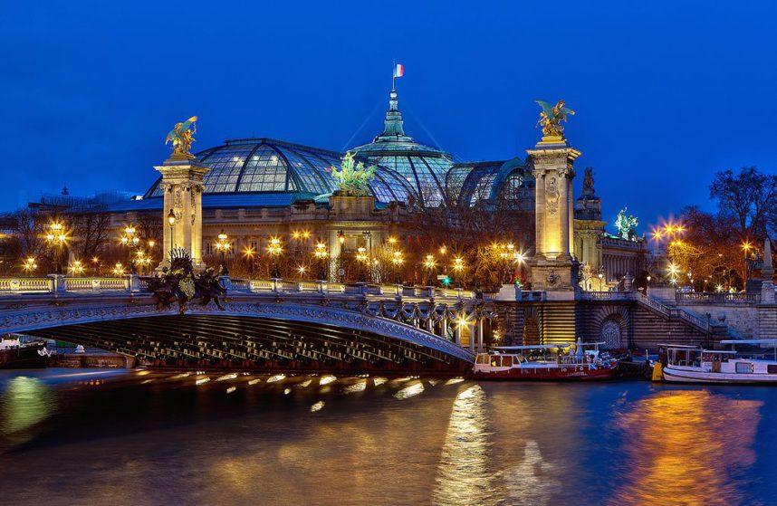 Мост Александра III, вечер