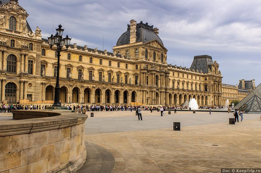 Площадь Согласия, вид на Лувр