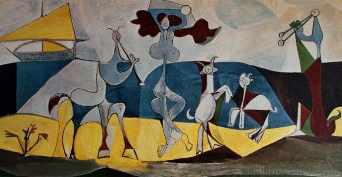 Картины Пикассо в Музее, Париж