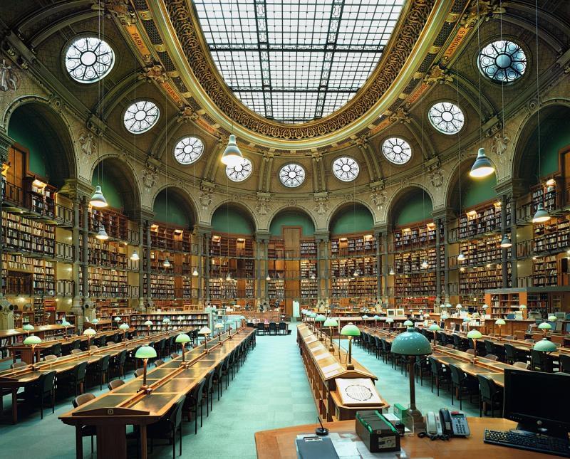 Национальная библиотека Франции,овальный зал