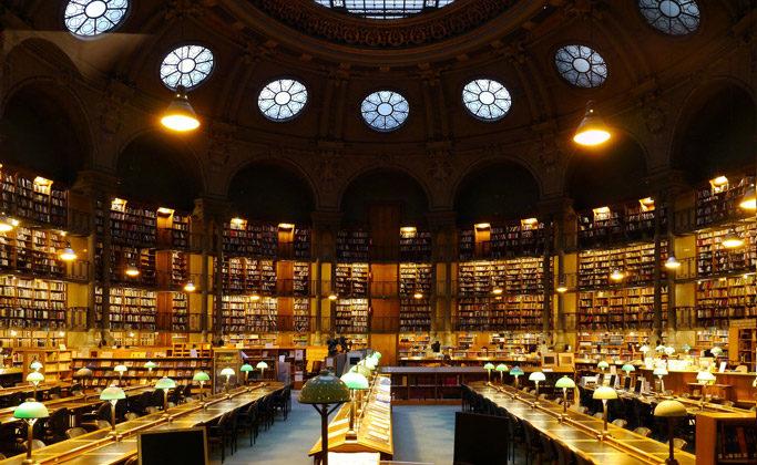 Национальная библиотека Франции,вечер