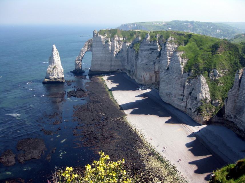 Нормандия, скала д'Аваль
