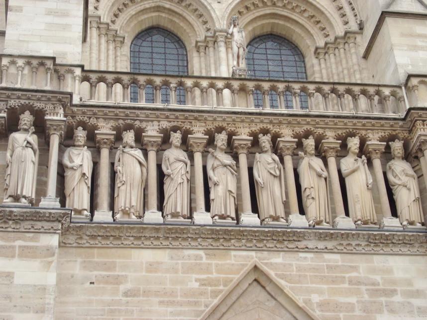 Нотр-Дам де Пари, галерея библейских королей