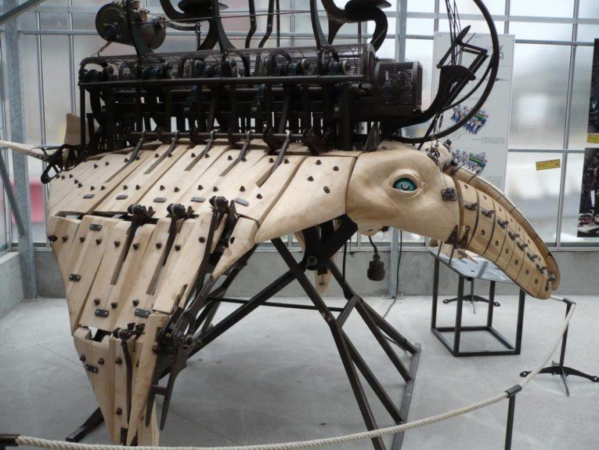 Остров машин, зоопарк механических животных