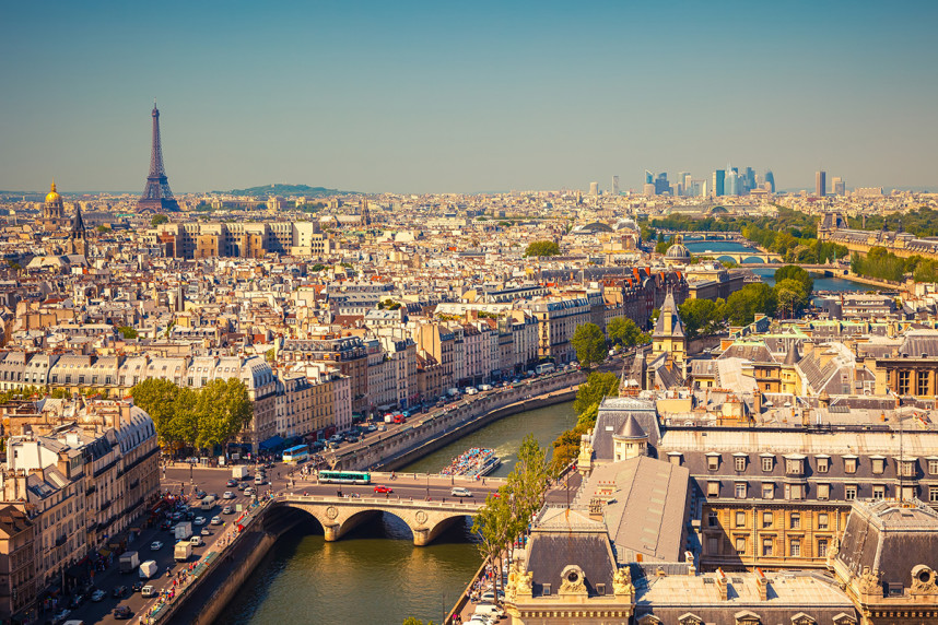 Париж, вид с птичьего полета