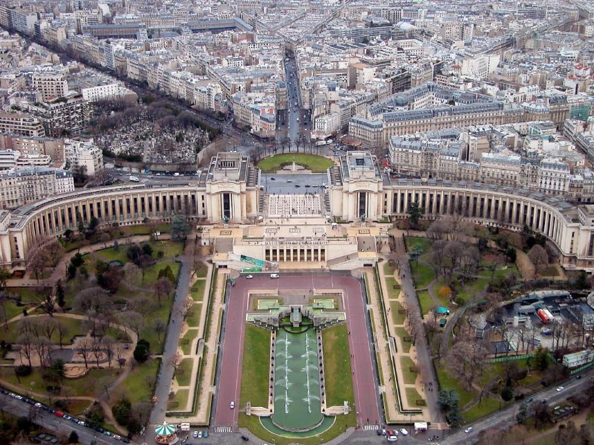 Париж, вид сверху