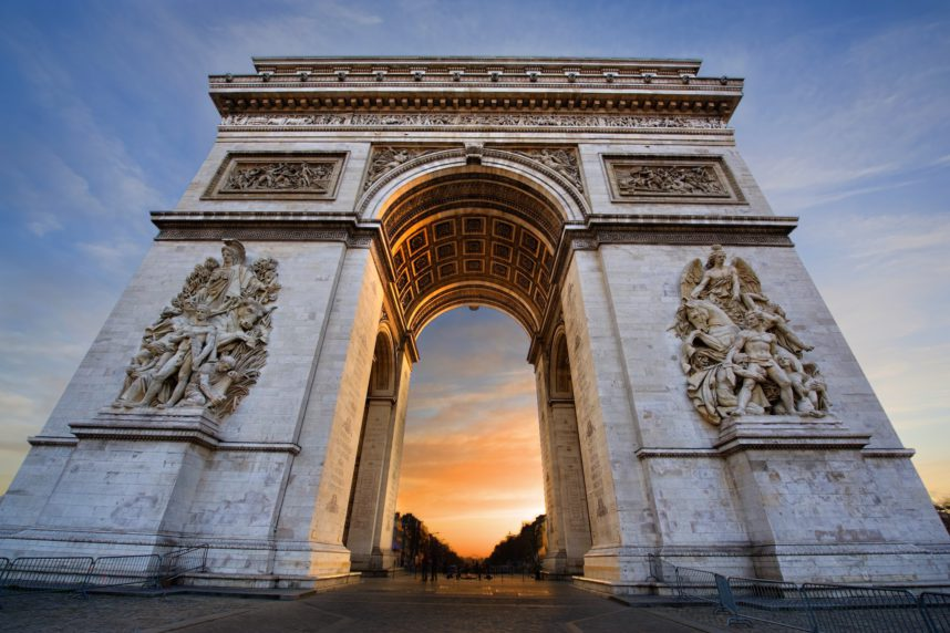 Триумфальная арка, закат