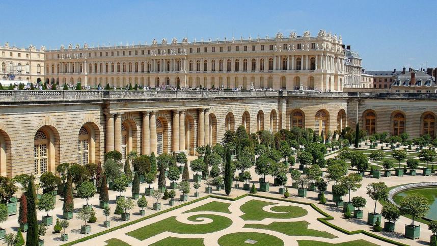 Вид на сад Версаля и дворец