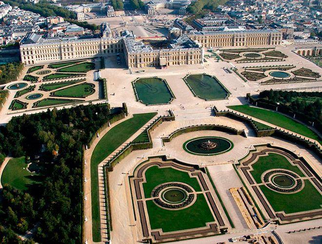 Версальский дворец, птичий полет