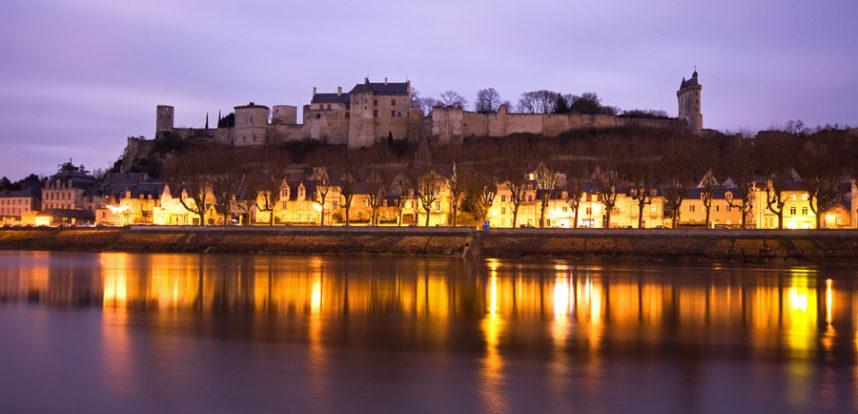 Замок Шинон, вечер