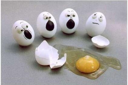 Птицеводы разбили 100 тысяч яиц у здания налоговой службы в Бретани